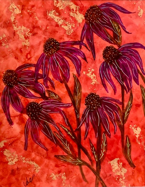 Red Cone Flowers - DcCreations64