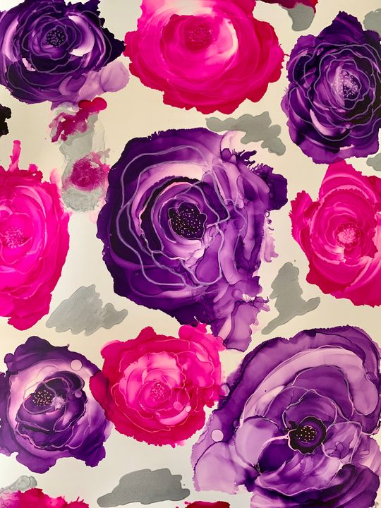 Purple and Pink Roses - DcCreations64