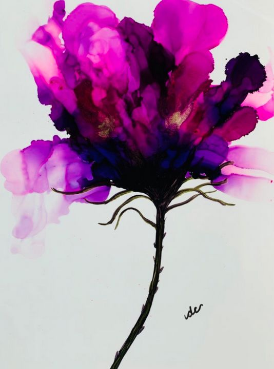 Purple, pink abstract flower - DcCreations64