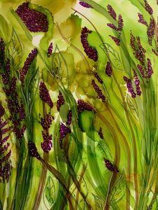 Abstract Purple Wildflowers