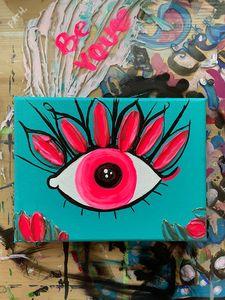 Textured Painting- Evil Eye