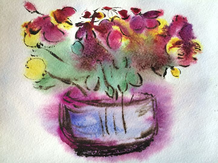 Still life in purple tones - The Art Gallery of Kamil Suleyev