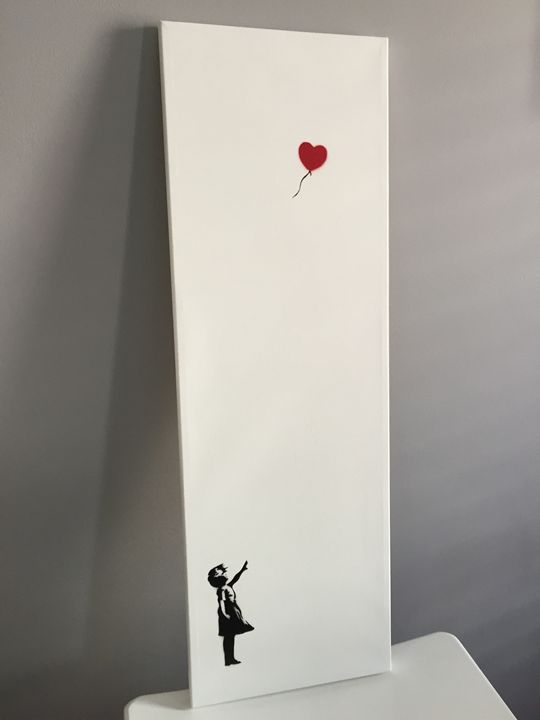 Girl and Red Balloon, Banksy Repro - Urban Spray Paint by David Owens