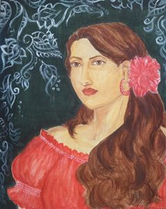 Gypsy Girl in Red