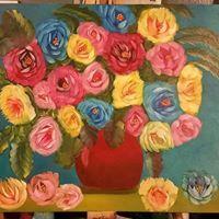 Pot of roses