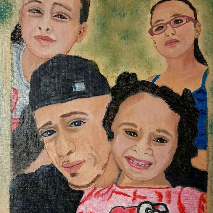 Jonathan & his girls. - E. Garcia