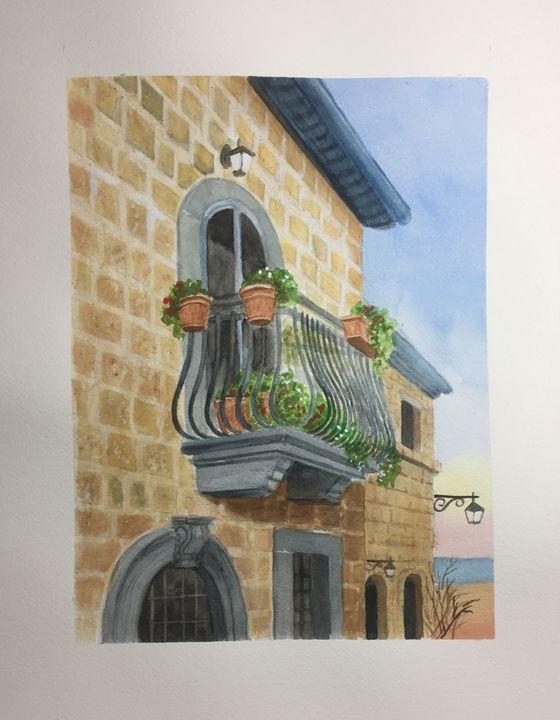 Balcony Civita De Bagnoregio - DonaldMiehling