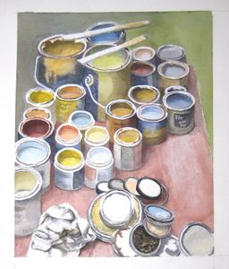 Paint Cans - Watercolor
