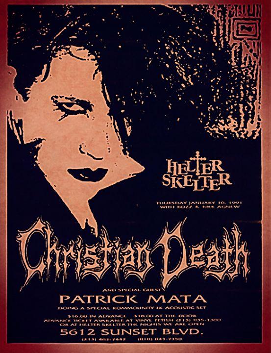 Christian Death - RCMARBLE DESIGNS