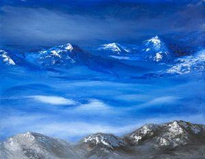 Moonlight Night in Himalaya