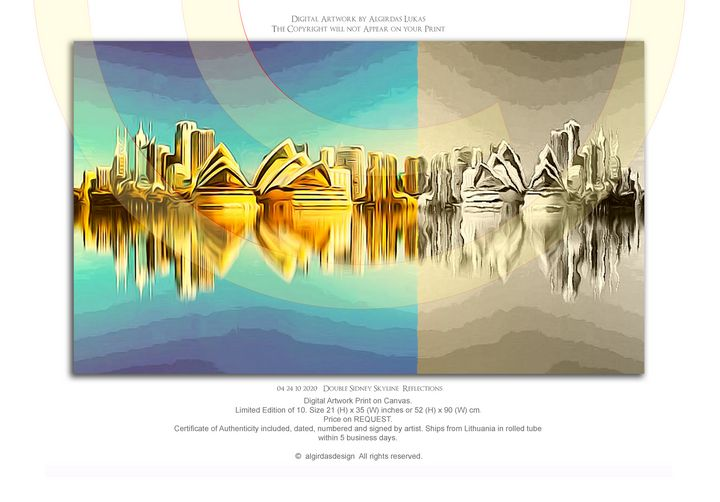 04 24 10 2020 Double Sidney Skyline - algirdasdesign