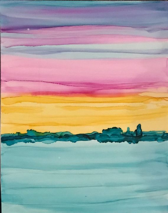 Ocean sunset 2 of 2 - Tracie D. Jessop