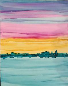Ocean sunset 2 of 2