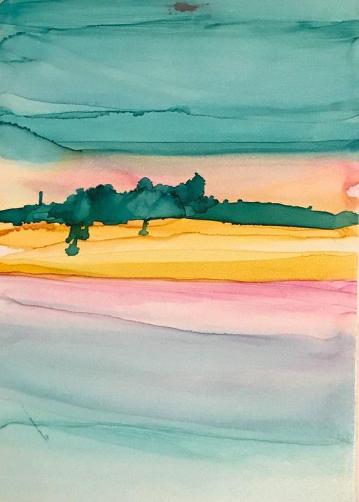 Ocean sunset 1 of 2 - Tracie D. Jessop
