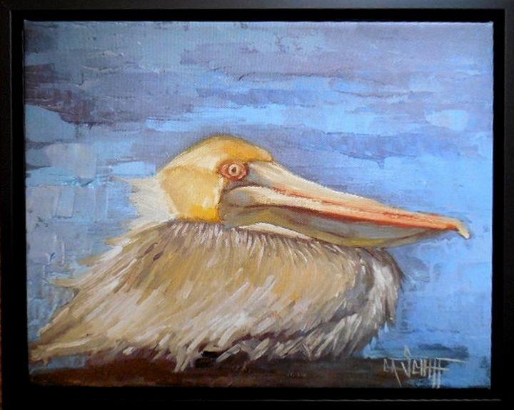 Pelican, Hunkered - Carol Schiff Studio