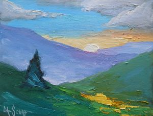 High Country Original Oil Painting - Carol Schiff Studio