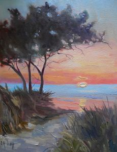 Outer Banks Sunset Oil Painting