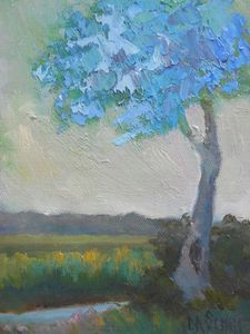 Blue Tree on Spring Island - Carol Schiff Studio