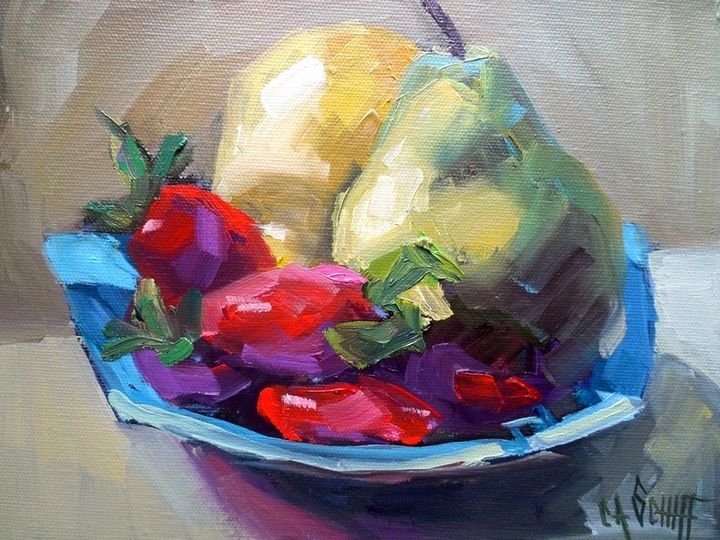 Pears and Berries Still Life Giclee - Carol Schiff Studio