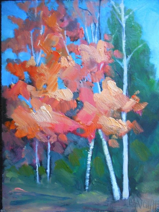 Fall Beauty Original Oil Painting - Carol Schiff Studio