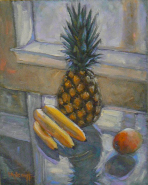Fruit Still Life on Glass - Carol Schiff Studio