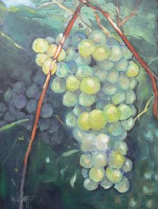 Grapevine Harvest Original Oil - Carol Schiff Studio