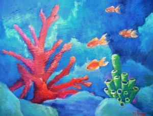 Florida Keys Coral Reel - Carol Schiff Studio
