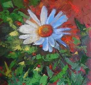 White Daisy of Savannah - Carol Schiff Studio