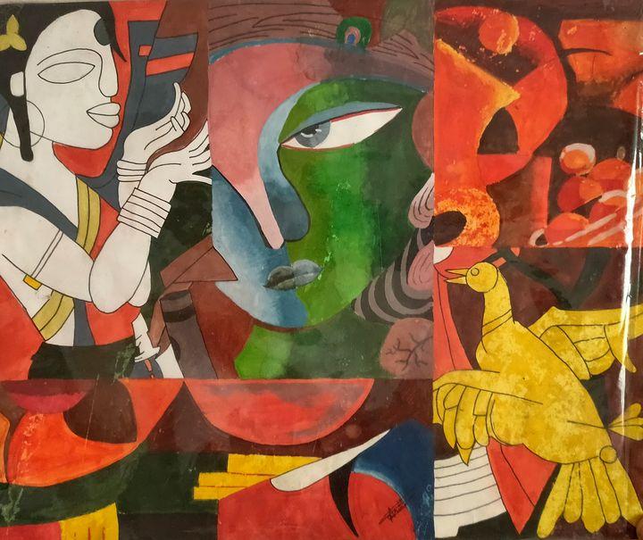 Radha Krishna Modern Art - AD Painters