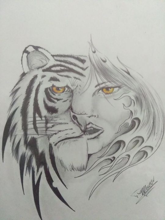 Tiger lady - Paul's FINE LINE ARTworkx