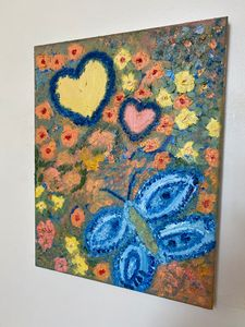 Floral Impressionist Butterfly Oil