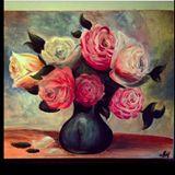40x50cm roses in vase