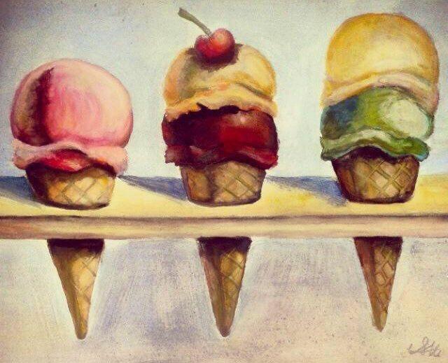 Wayne thiebaud inspired Ice creams - Serena's Collection