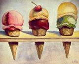 30x40cm icecream painting
