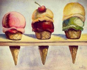 Wayne thiebaud inspired Ice creams