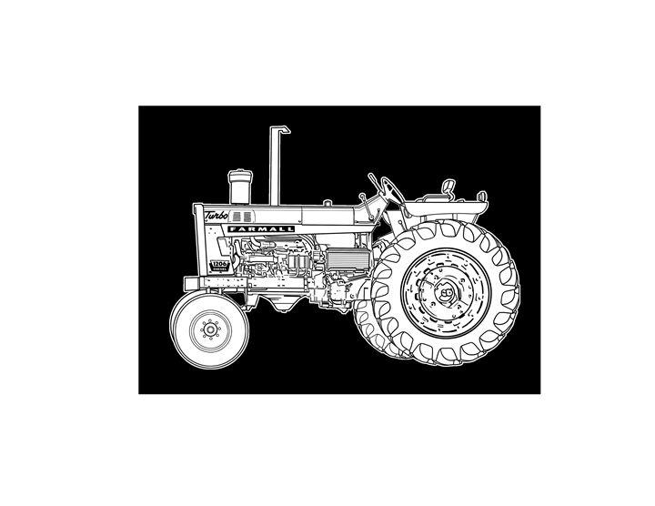 vintage tractor - Villastrations