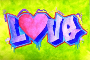 ABSTRACT LOVE WATER COLOR