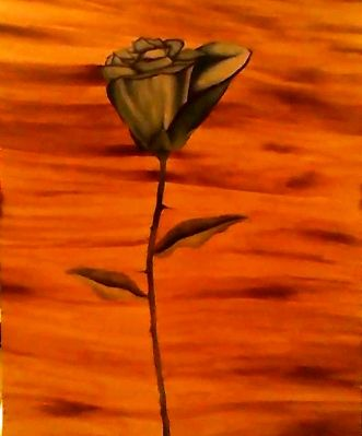 BLUE SOUTHWESTERN STYLE ROSE - CUSTOM ART MASTERPIECES
