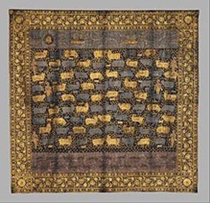 krishna cows in gold