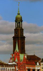 Schwedische Kirche u. der Michel