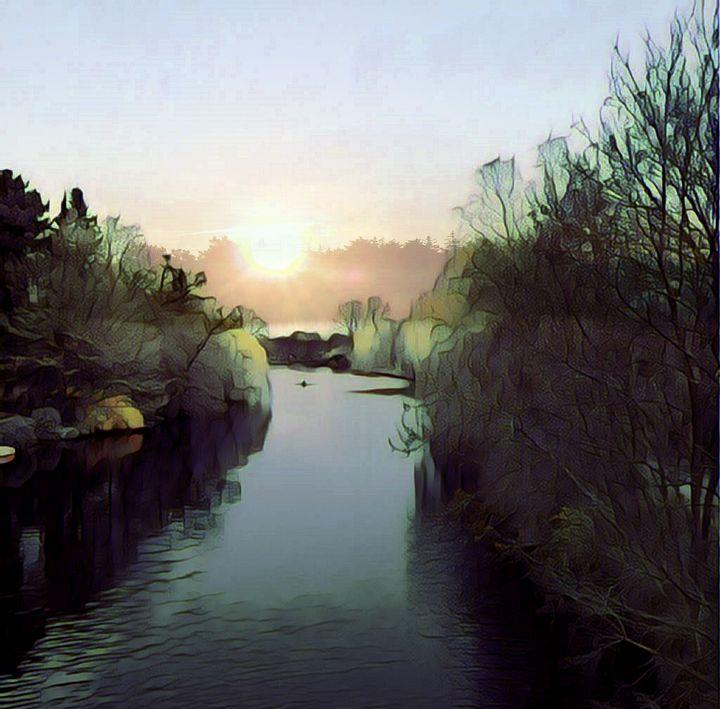 Alster abstrakt- - Peter Norden