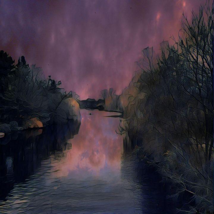 Alsterlauf abstrakt-2 - Peter Norden