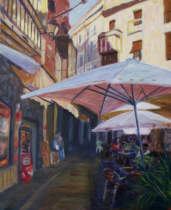 The street of Toledo - Elena Sokolova art