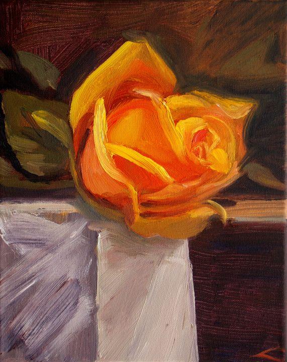 Yellow rose - Elena Sokolova art