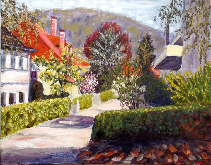 Spring in Baden-Baden, bright mornin - Elena Sokolova art