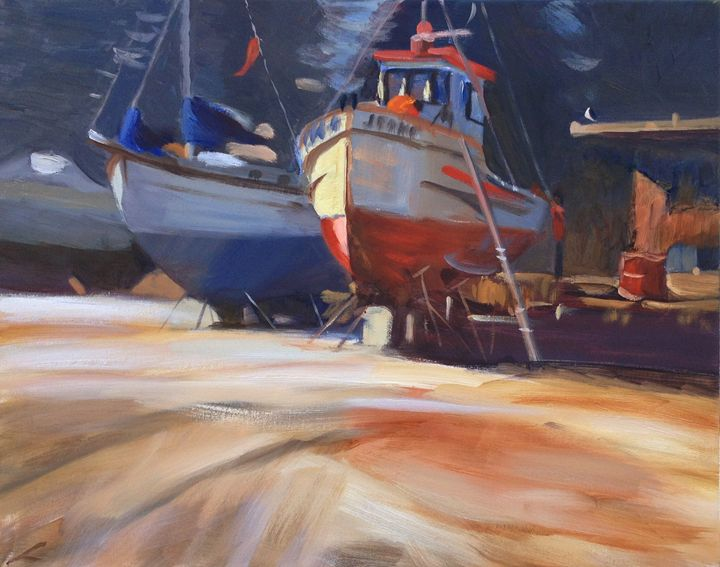 Boats repairs - Elena Sokolova art