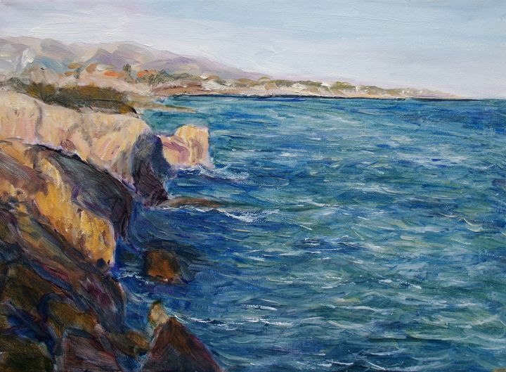 Ionic sea at Sicilia - Elena Sokolova art