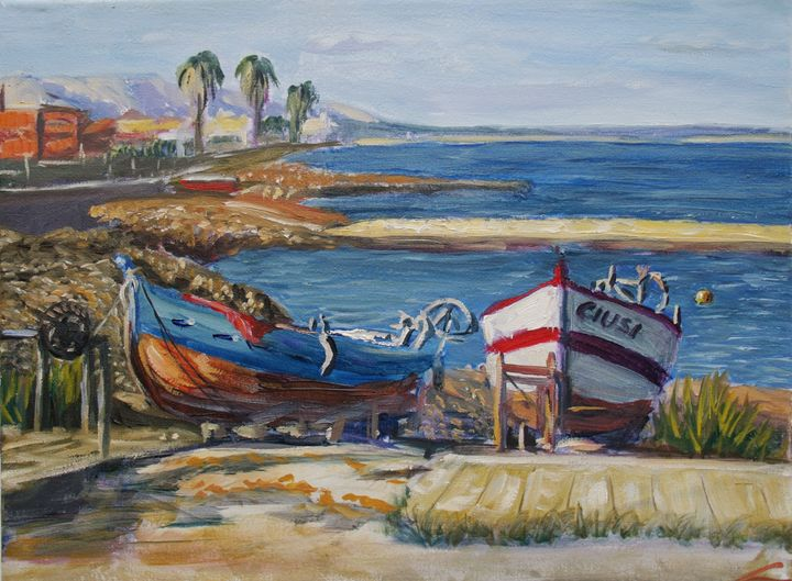Sicilian boats - Elena Sokolova art