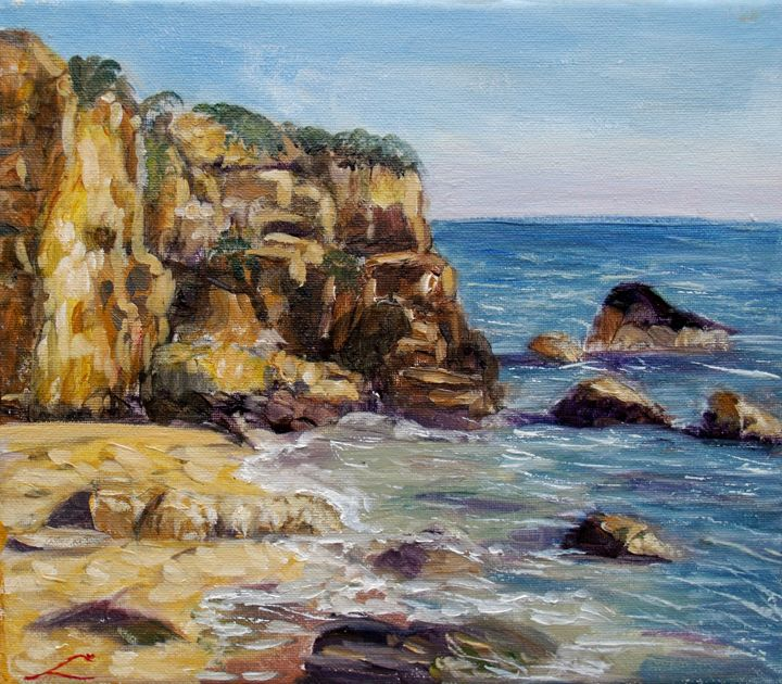 Sicilian rocks - Elena Sokolova art