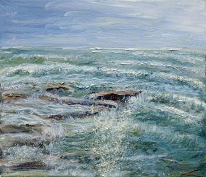 Stormy sea at Sicilia